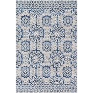 Magnolia Home Lotus Rug by Joanna Gaines - Blue / Antique Ivory