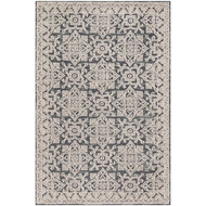 Magnolia Home Lotus Rug by Joanna Gaines - Fog / Beige