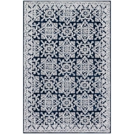 Magnolia Home Lotus Rug by Joanna Gaines - Midnight / Silver