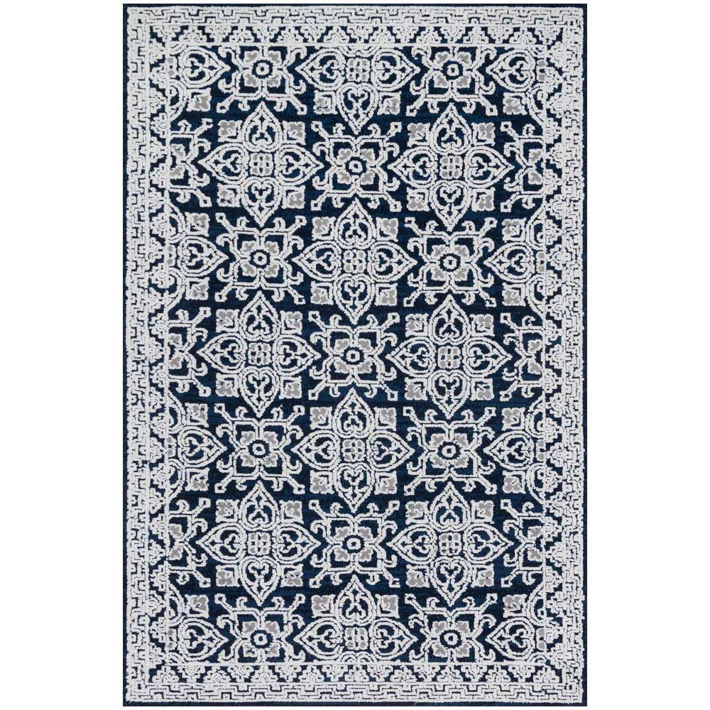 Magnolia Home Lotus Rug By Joanna Gaines   Midnight / Silver