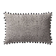 "Magnolia Home by Joanna Gaines 13"" x 21"" Ruby Pillow Charcoal & Black - P1021"