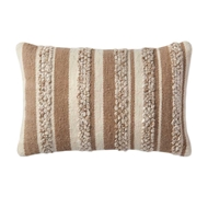 "Magnolia Home by Joanna Gaines 13"" X 21"" Zander Pillow Beige & Ivory - P1022"