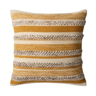 Magnolia Home by Joanna Gaines Gold & Ivory PillowP1022