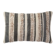 Magnolia Home by Joanna Gaines Grey & Ivory Pillow P1022