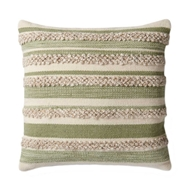 "Magnolia Home by Joanna Gaines 22"" x 22"" Zander Pillow Sage & Ivory - P1022"