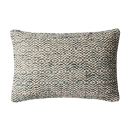 "Magnolia Home by Joanna Gaines 13"" x 21"" Sosa Pillow Grey - P1031"