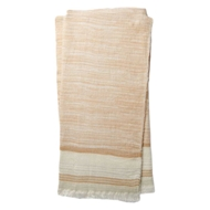 Magnolia Home by Joanna Gaines Alissa Camel & Ivory Throw Blanket