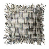 Magnolia Home by Joanna Gaines Beige & Olive Pillow P0459 - Designer Pillow