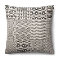 "Magnolia Home by Joanna Gaines 22"" x 22"" Etta Pillow Black & White - P1016"