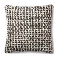 "Magnolia Home by Joanna Gaines 22"" x 22"" Trellis Pillow Black & White - P1017"