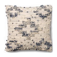 "Magnolia Home by Joanna Gaines 18"" x 18"" Lexi Pillow Blue & Ivory - P0420"