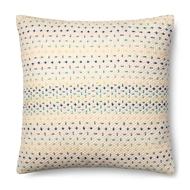 Magnolia Home by Joanna Gaines Blue & Multi Colored Pillow P1000 - Designer Pillow