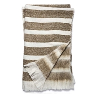 Magnolia Home by Joanna Gaines Duke White & Camel Throw Blanket - Designer Pillow