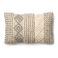 "Magnolia Home by Joanna Gaines 13"" x 21"" Joslin Pillow Grey & Ivory - P0461"