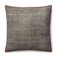 Magnolia Home by Joanna Gaines Grey & Red Pillow P0435 - Designer Pillow