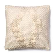 "Magnolia Home by Joanna Gaines 22"" x 22"" Fae Pillow Ivory - P1007"