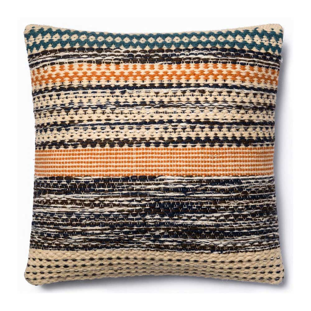 Magnolia Home by Joanna Gaines Orange & Blue Pillow P1009 - Designer Pillow