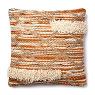 "Magnolia Home by Joanna Gaines 18"" x 18"" Hazel Pillow Orange & Ivory - P1006"