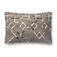 Magnolia Home by Joanna Gaines Silver & Multi Colored Pillow P1015 - Designer Pillow