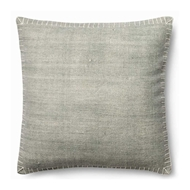 "Magnolia Home by Joanna Gaines 22"" x 22"" Wilson Pillow Silver & White - P0435"