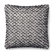 "Magnolia Home by Joanna Gaines 18"" x 18"" Ruth Pillow White & Black - P1018"