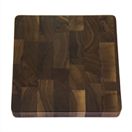 "Maple Leaf 12"" Square Walnut Butcher Block"