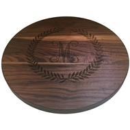 "Maple Leaf 16"" Lazy Susan Walnut 16LAZY-WAL"