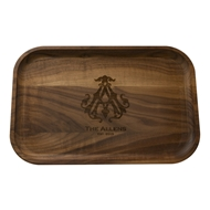 "Maple Leaf 18"" Rectangle Tray Walnut"