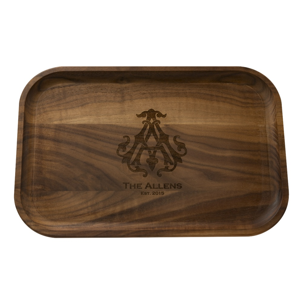 "Maple Leaf 18"" Rectangle Tray Walnut 1812TRAY-WAL"