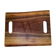 "Maple Leaf 18"" Rectangle Walnut Double Handle"