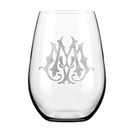 Maple Leaf Reserve Stemless Wine Glass, 21oz Set of 4