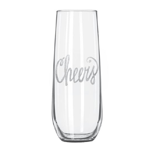 Maple Leaf Stemless Champagne Glass 8.5oz G-SCHAM-8-4