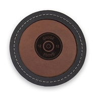 "Maple Leaf 4"" Leather Coaster Mix Black/Brown CSMIX-4"