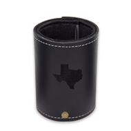 Maple Leaf Leather Koozie Black KZBLK-4