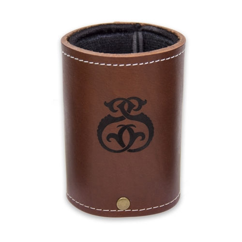 Maple Leaf Leather Koozie Brown KZBRN-4