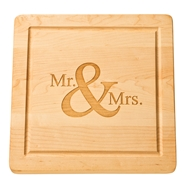 "Maple Leaf 12"" Square Cutting Board w/o Handle"