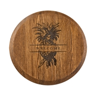 "Maple Leaf 16"" Espresso Lazy Susan - 16OAKLAZY-Esp"