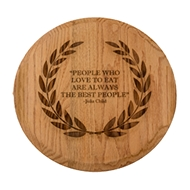 "Maple Leaf 16"" Golden Oak Lazy Susan"