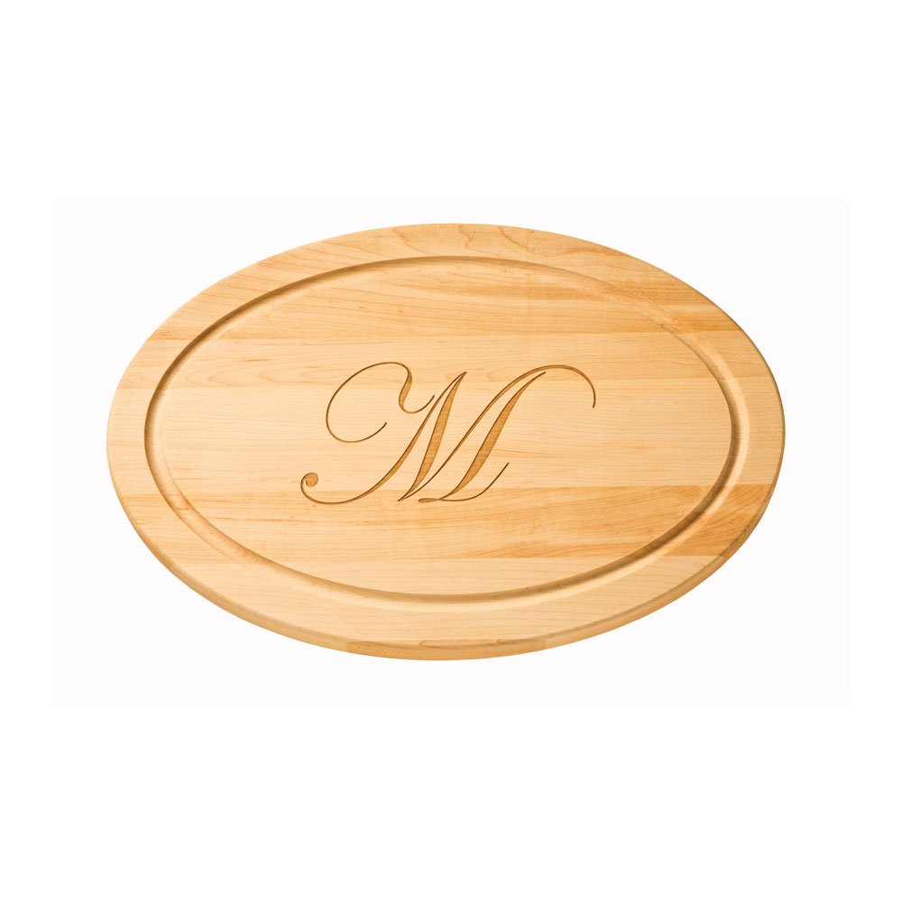 "Maple Leaf 18"" Oval Cutting Board w/o Handle - 1812OVNH"