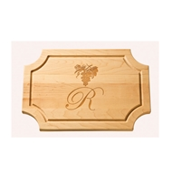 "Maple Leaf 18"" Scalloped Cutting Board w/o Handle - 1812SCNH"