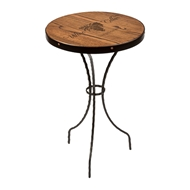 "Maple Leaf 18"" Decor Table - 1828TABLE-Esp"