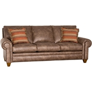 Palance Silt Upholstered Sofa With Nailheads 2840F10