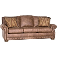 Palance Chestnut Upholstered Sofa with Nailheads 2900F10