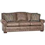 Palance Silt Upholstered Sofa with Nailheads 2900F10