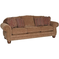 Impressive Umber Upholstered Sofa With Nailheads 3180F10