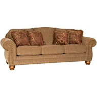 Lone Wolf Brass Upholstered Sofa with Nailheads 3180F10