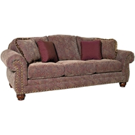 Pandora Antique Upholstered Sofa With Nailheads 3180F10