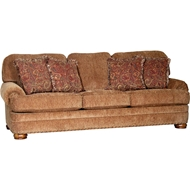 Impressive Umber Upholstered Sofa with Nailheads 3620F10