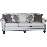 Downton Gypsum Upholstered Sofa with Nailheads 4300F10