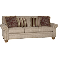 Bouy Taupe Upholstered Sofa with Nailheads 9780F10